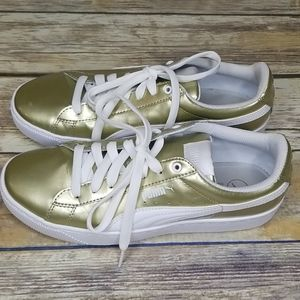 PUMA Gold Sneakers Size 8.5